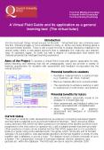 A Virtual Field Guide and its application as a general learning tool The virtual tutor