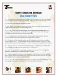 Native American Heritage Quiz Answer Key