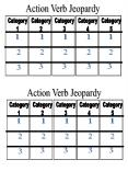 Action Verb Jeopardy