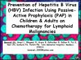 Lamivudine for the Prevention of Hepatitis B Virus (HBV) Reactivation in Patients Undergoing Chemotherapy for Acute Lymphoblastic Leukemia (ALL)