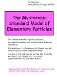 The Mysterious Standard Model of Elementary Particles