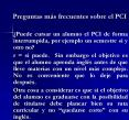 Preguntas ms frecuentes sobre el PCI