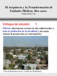 El Arquitecto y la Transformacin de Unidades Mdicas' Dos casos' Rafael Muri Vila