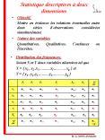Statistique descriptives deux dimensions