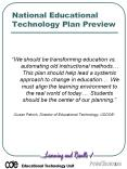 National Educational Technology Plan Preview