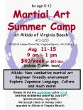 for age 512 Martial Art Summer Camp at Aikido of Virginia Beach 4723253 6220G Indian River Rd, Virgi