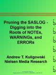 Pruning the SASLOG