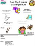 Dora The Explorer Scavenger Hunt