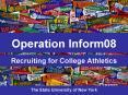 Recruiting for College Athletics