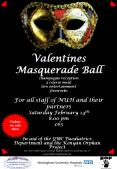 Valentines Masquerade Ball champagne reception 3 course meal live entertainment fireworks For all st