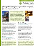Transportation Engineering Graduate Programs