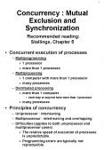 Concurrency : Mutual Exclusion and Synchronization Recommended reading: Stallings, Chapter 5