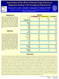 Assessment of the effect of Patient Surge Volume on Diagnostic Testing in the Emergency Department