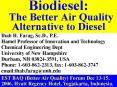 Biodiesel: The Better Air Quality Alternative to Diesel