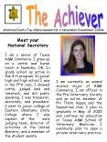 National Delta Tau Alpha newsletter NovemberDecember 2004