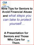 Nine Tips for Seniors to Avoid Financial Abuse and what steps you can take to protect yourself
