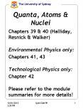 Quanta, Atoms