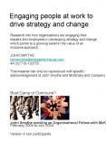 Research into how organisations are engaging their