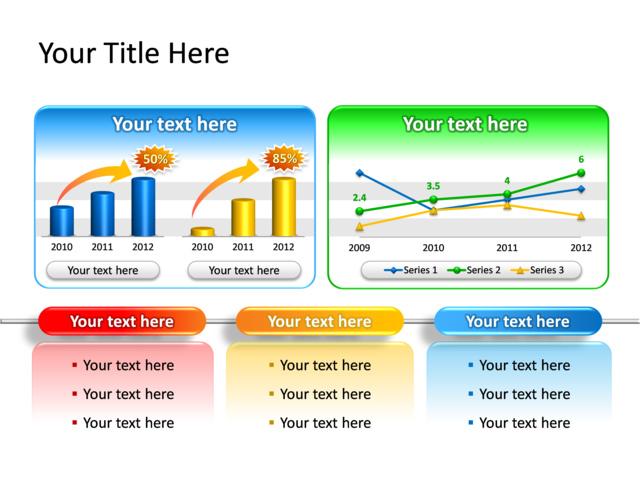 powerpoint slide chart line graph 3d multicolor data driven
