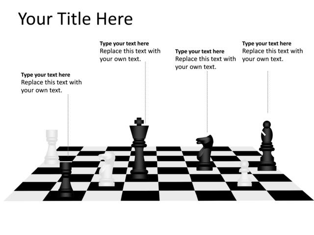 powerpoint slide - chess diagram - multicolor