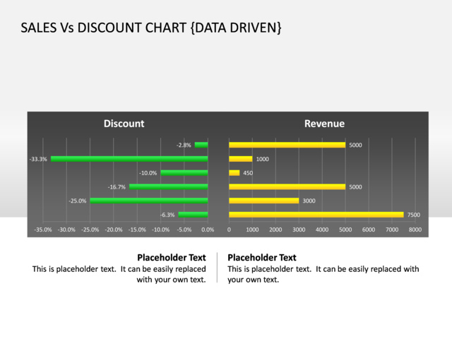 powerpoint slide - comparison chart - 3d - green - cg-42, Powerpoint templates