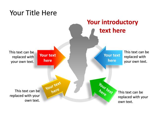 powerpoint slide - diagram arrow - multicolor - 4-arrows - tg453, Powerpoint templates
