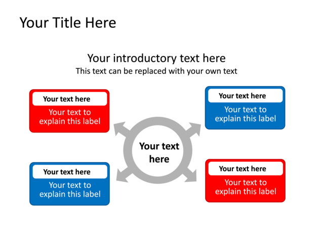 Powerpoint Slide - Diagram Text Box - Red