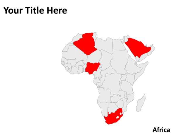 PowerPoint Slide - Map of Africa - Gray - PL1 | CrystalGraphics.com