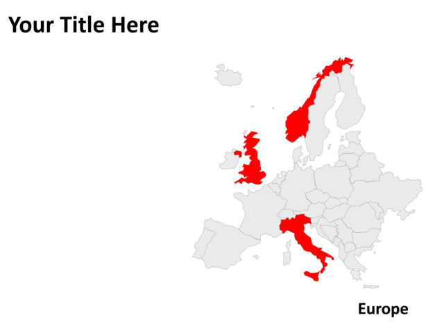 Powerpoint slide map of europe gray pl23 crystalgraphics powerpoint slide map europe gray pl pl23 toneelgroepblik Gallery