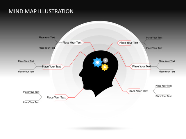 powerpoint slide   mind map illustration diagram   d   gray   cg    powerpoint slide   mind map illustration diagram  d gray cg