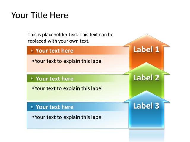 powerpoint slide - process diagram - multicolor - 3 process - tg9, Powerpoint templates