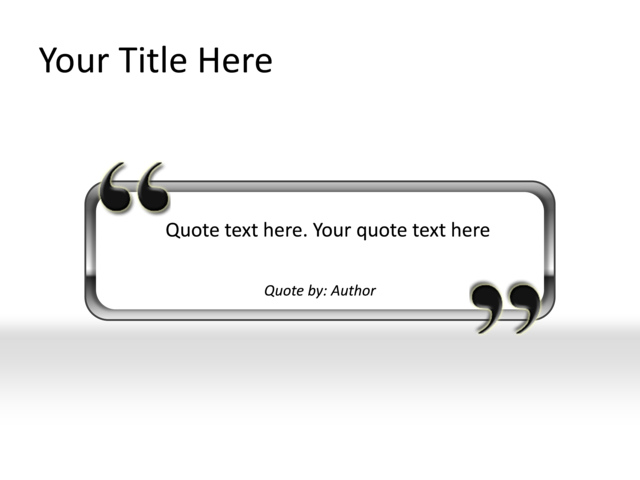 powerpoint slide quote diagram grey 1 text box mp 318