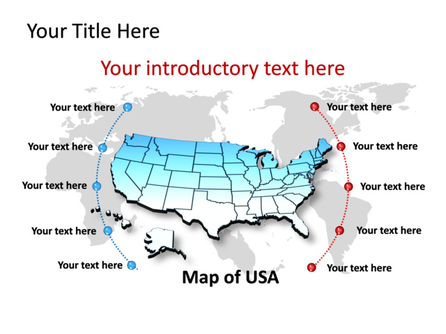 powerpoint slide map of usa blue tg148 crystalgraphics com