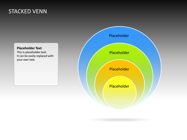 Powerpoint Slide Stacked Venn Diagram 3d Multicolor 4