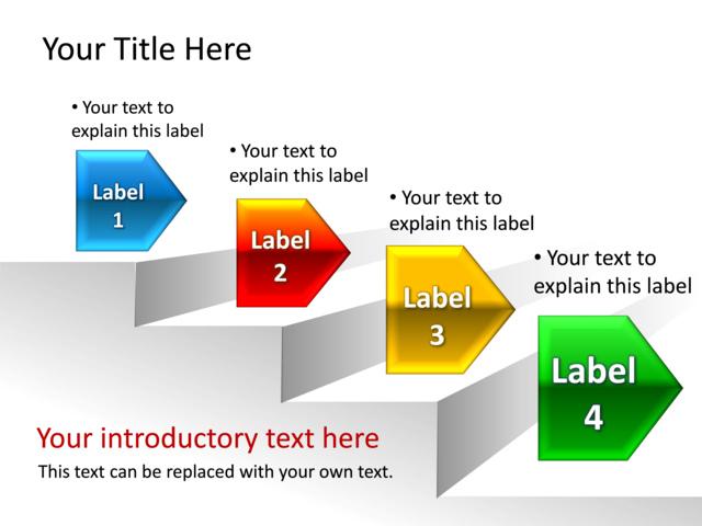 Powerpoint Slide Step Diagram D Multicolor Step Tg on Slow Dance Steps Diagram