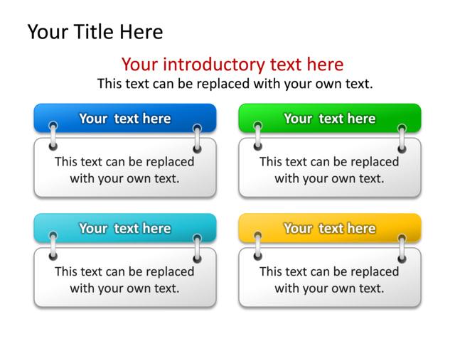 Powerpoint Slide - Text Box Diagram - 4 Boxes
