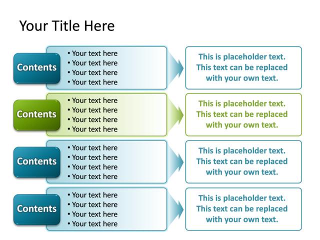 Powerpoint Slide - Text Box Diagram - Multicolor