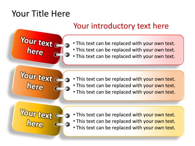 Powerpoint Slide - Text Box Diagram - 3 Boxes