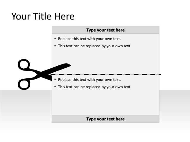 Powerpoint Slide - Textbox Diagram - 1-box - Gray