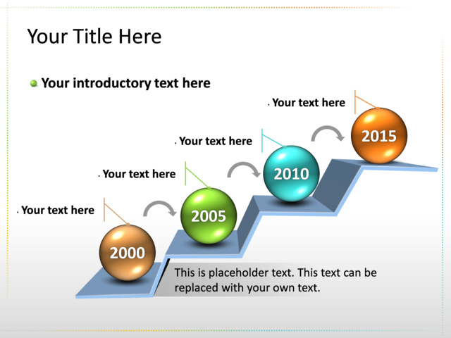 Powerpoint Slide  Timeline Diagram D  Multicolor   Timelines