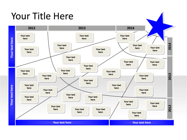 powerpoint slide - transformation map diagram - 1 star - blue, Powerpoint templates