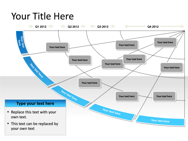 Powerpoint Slide Transformation Map Diagram 5 Phases