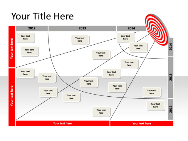 powerpoint slide transformation map diagram 1 target red